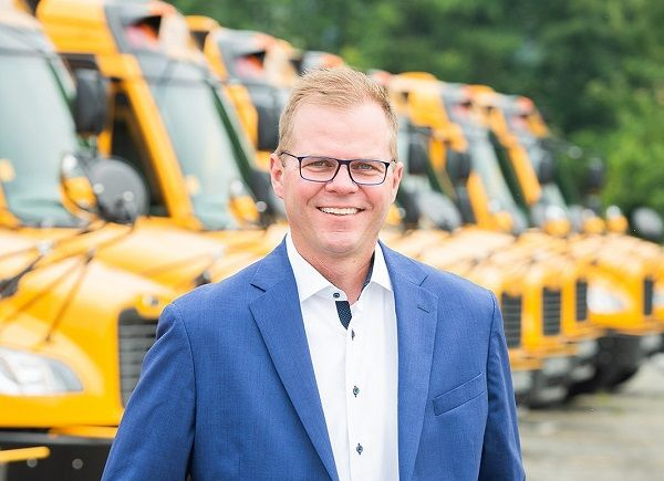 Caley Edgerly, former president and CEO of Thomas Built Buses, will take the helm at Virginia-based school bus dealership Sonny Merryman. - Photo courtesy Sonny Merryman