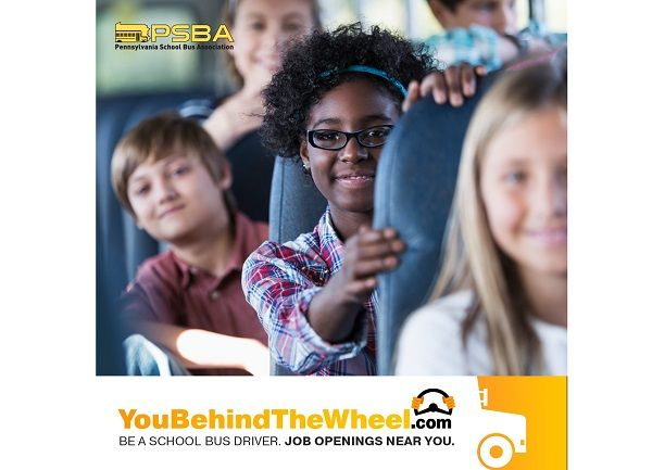 """The Pennsylvania School Bus Association's """"You Behind the Wheel"""" campaign seeks to raise public awareness about the ongoing driver shortage and provide resources to recruit new drivers. - Graphic courtesyPennsylvania School Bus Association"""