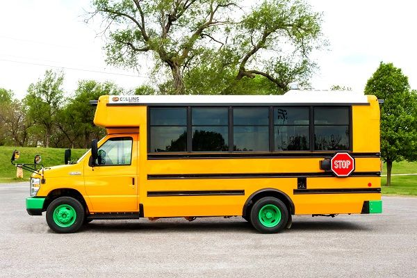 The two companies signed a mutli-year agreement to deploy more than 100 Type A electric school buses across the U.S. and Canada. - Photo courtesy REV Group