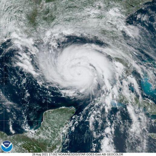 Hurricane Ida tracked toward the coast of the Gulf of Mexico, with landfall expected on Sunday. - Photo courtesy NOAA