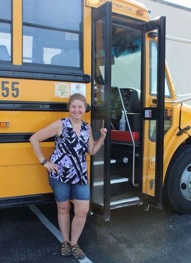 Jill Bush of Strongsville City Schools won the George Sontag Jr. School Bus Driver of the Year award for 2021. - Photo courtesy Jill Bush