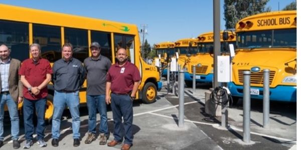 Nuvve teamed with California's Mt. Diablo Unified School District to install 16 charging...