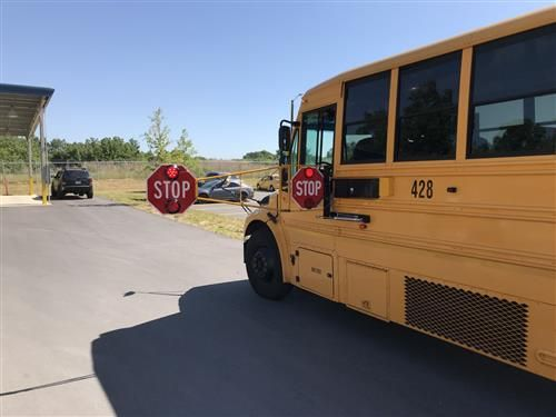Union County Public Schools in Monroe, North Carolina, has addedextended stop arms to 30 of its buses to crack down on illegal passing incidents. - Photo courtesy Union County (N.C.) Public Schools