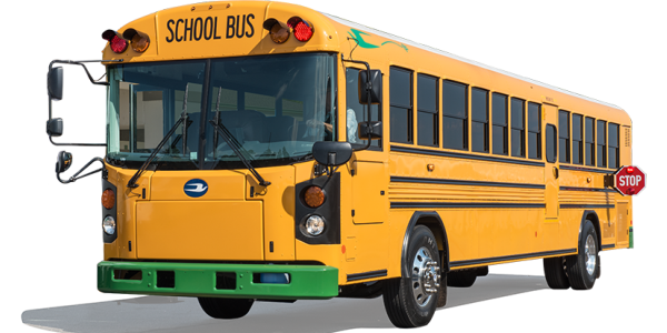 West Grand (Colo.) School District used grant funds to help purchase a Blue Bird Type D electric...