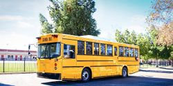 Santa Maria Joint Union High School District is the first to receive GreenPower's B.E.A.S.T. electric school bus. The bus has a range of up to 150 miles and a 194kWh battery pack.