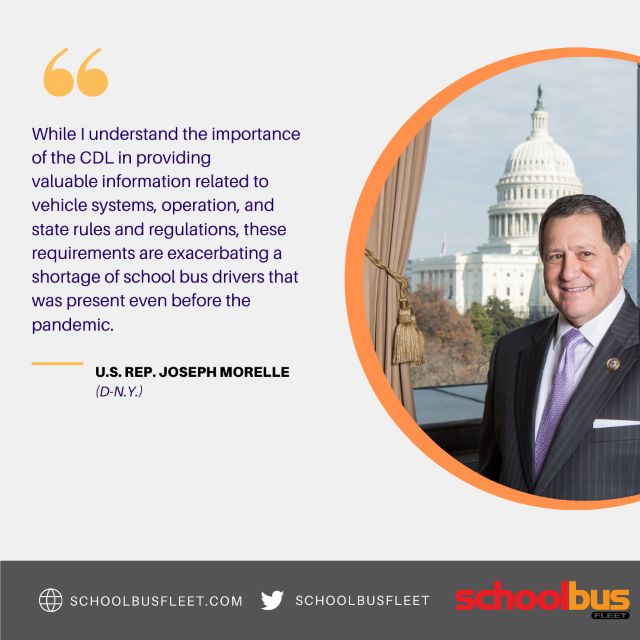 New York's Morelle Seeks CDL Waiver for School Bus Drivers
