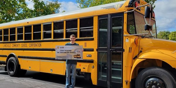 Ethan Thieneman, who has a family member who works for Midwest Transit Equipment, was one of the...