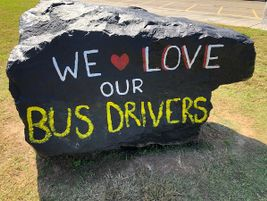 Canton, Ga.-based Creekland Middle School students showed their appreciation forits bus drivers...