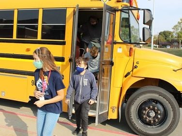 Leading up to National School Bus Safety Week, students from Fort Dodge (Iowa) Community School...