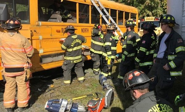 The transportation team at Randolph County (N.C.) School System partnered with a local fire...