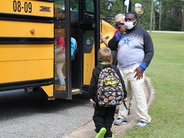 Troup County (Ga.) School System honored one of its special-needs drivers, Jameel Dixon (shown...