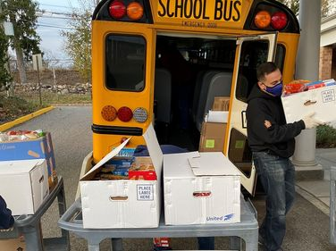 A Durham School Services location in Milford, Conn., collected more than $9,000 worth of food...