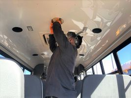Denver (Colo.) Public Schools equipped 10 of its school buses with disinfecting lights in December.