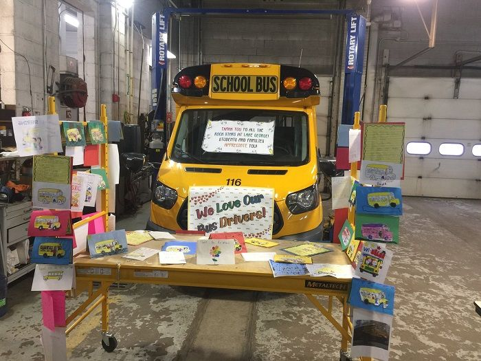In New York, Lake George Elementary School students wrote and colored many thoughtful and...
