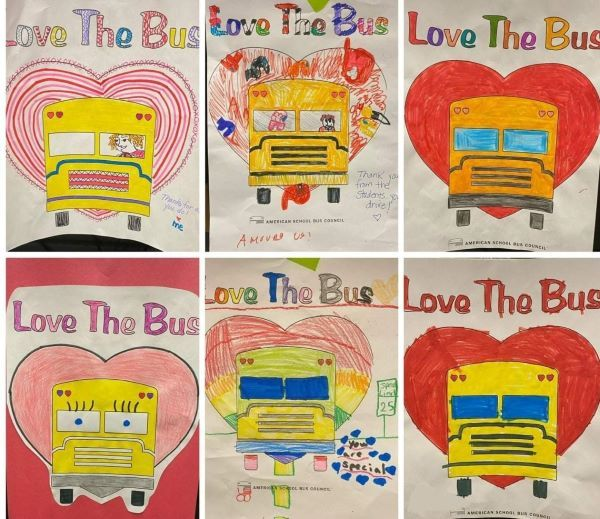 Kyrene School District students showed their love for their drivers with collages they colored.