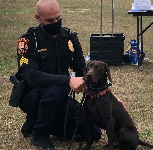 OCPS now has a police dog, Coco, and he made an appearance during the festivities as well.