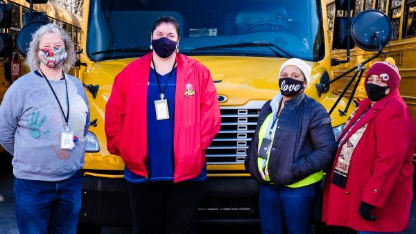 Wake County (N.C.) Public School System published brief profiles on four bus drivers (shown...
