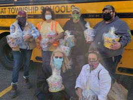 A helping hand: The transportation team at Barnegat (N.J.) Township Schools collected donations...