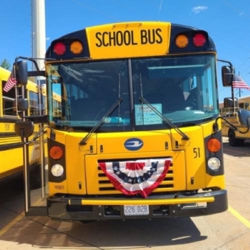 PHOTOS: Missouri School Bus Driver Pays Tribute to Fallen Marine
