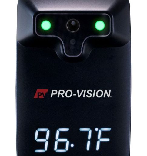The Touchless IR Thermometer from Pro-Vision Video Systems features a built-in IR sensor that enables a contact-free temperature scan. - Photo courtesy Pro-Vision Video Systems