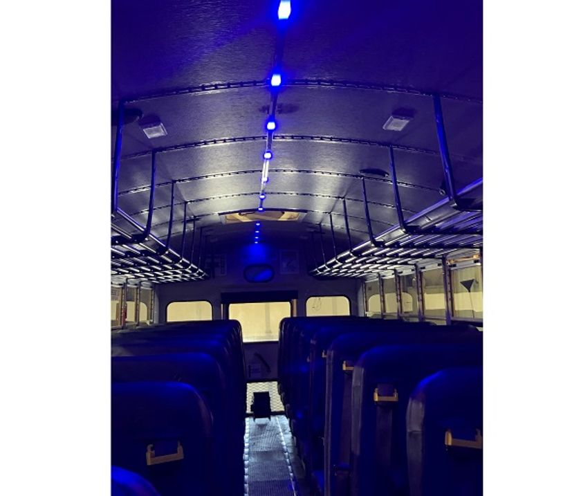 LED Lighting System Designed to Sanitize School Buses