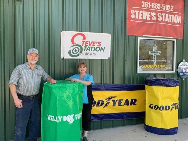 "Steve and Cindy Moeller started Steve's Station in June 2018 after a five-year absence from selling tires. They don't regret selling their original business. ""Everything has worked out well,"" he says. ""I'm glad that God gave us the opportunity."" -"