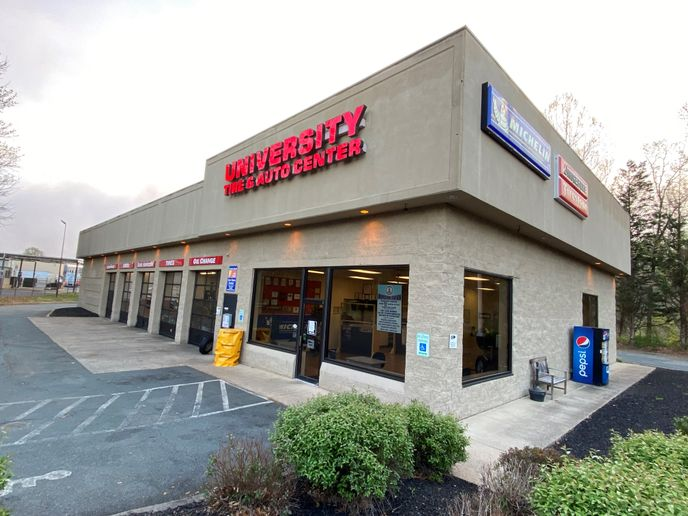 """University Tire's business is starting to come back, says CEO and President Larry Williams. """"People still need to have their cars serviced."""" -"""
