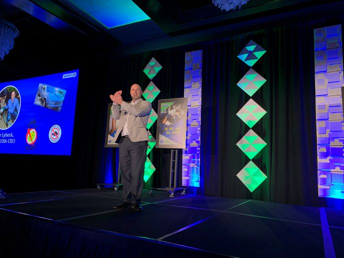 Walter Lybeck, CEO of Point S USA, told the meeting's 500-plus attendees that he expects the group's dealers to top their record results from last year in 2020. -