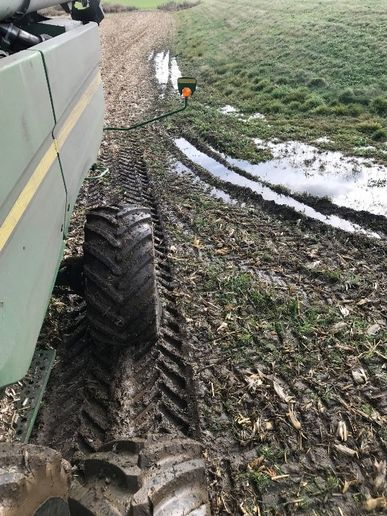 In sloppy soil conditions, there can be such a thing as too much flotation and not enough traction. Oppositely, you also can have too much traction and inadequate flotation. - Courtesy of Michelin North America Inc.