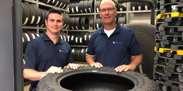 """We form that personal relationship with the customer,"" says Tom (right, with TJ.) ""That's our..."