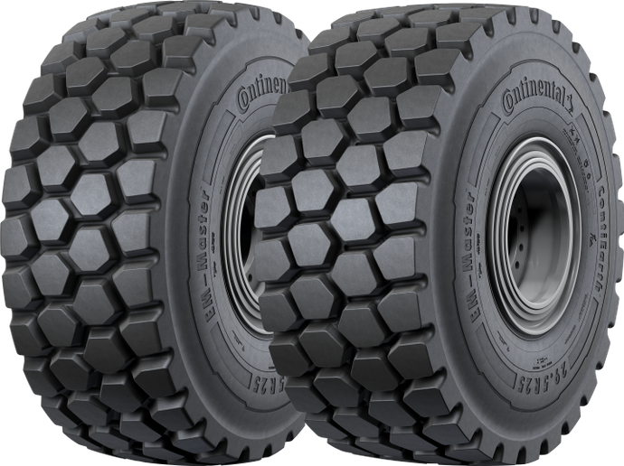 The Continental tires are available in sizes 20.5R25 to 29.5R25 on all Liebherr wheel loaders in the U.S. and abroad. -