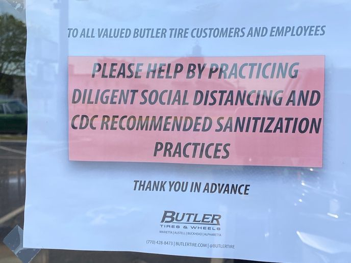 Butler Tire has been proactive in communicating protective measures to customers. -