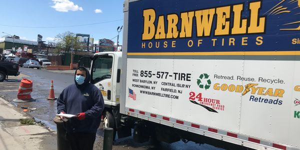 Barnwell House of Tires employees, like delivery driver Jose Herrera, are using personal...