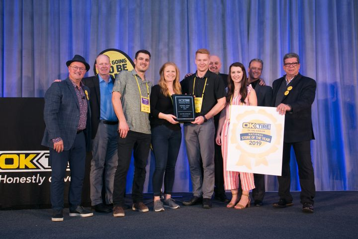 OK Tire Winkler of Manitoba has been named OK Tire Stores Inc.'s National Store of the Year for 2019. The dealership, which opened in 1991, joined the OK Tire network in 2015. -