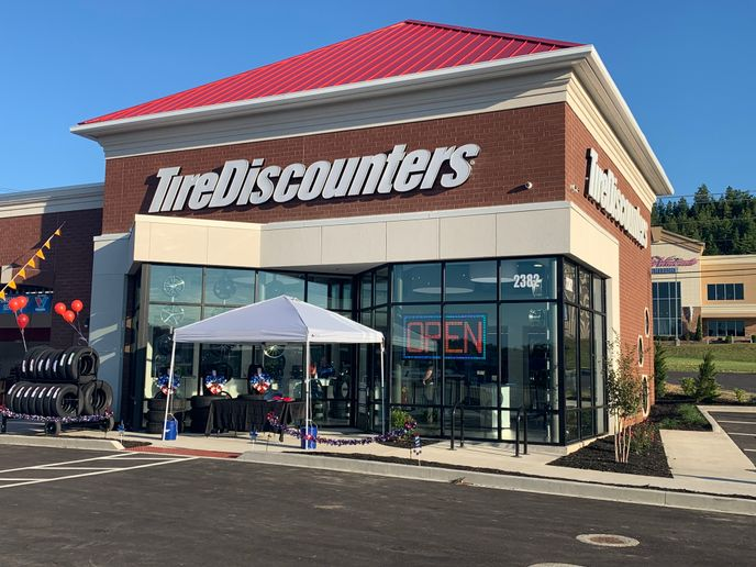 Knoxville is a new market for Tire Discounters, and this store on Old Callahan Drive is the company's fifth store there. -