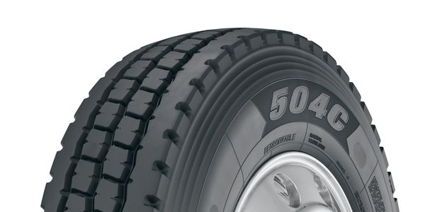 """""""The 504C is the tire for jobs that go beyond where the pavement ends,"""" said Tom Clauer,..."""