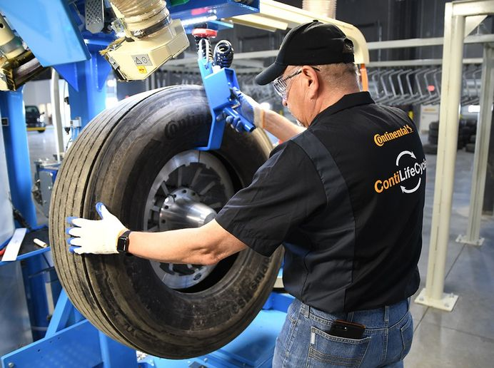 Continental is bundling its sustainability-related activities into a new department. This includes the company's ContiLifeCycle retreading operation. -