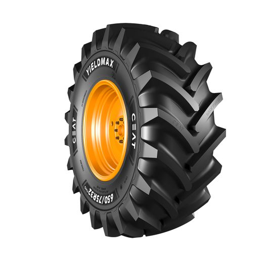 The new CEAT Yieldmax ag tire line has been engineered for combine applications. -