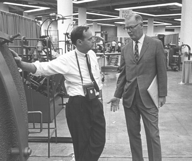 Chuck Slaybaugh, left, followed in the footsteps of Ernie Zielasko, right, whom he called his mentor. -
