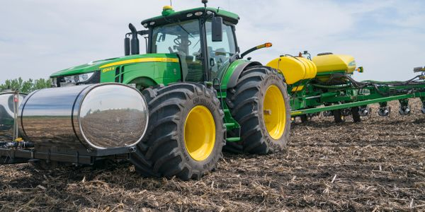 The three largest John Deere 8R-Series MFWD tractors for model year 2021 are available with...