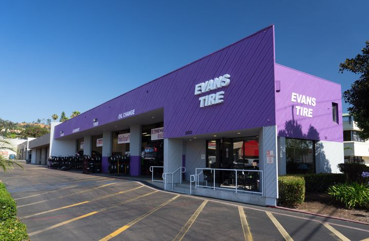 """In many cases, we believe in maintaining local brand identities,"" says GB Auto Service CEO Frank Kneller. (Pictured, an Evans Tire & Service location in Encinitas, Calif.) -"