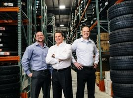 """Omaha, Neb.-based Jensen Tire & Autois taking measures to preserve working capital. """"Inventory is a big thing,"""" says President Matt Jensen (center, with sons Nick and Mike Jensen.) """"We're drawing inventories down and we're turning rubber into cash."""""""