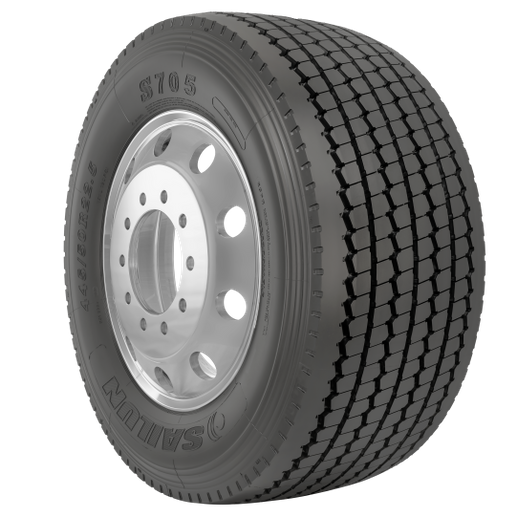 """The Sailun S705 wide-base tire, which is available in both the U.S. and Canada, features a solid shoulder designed to """"stand up to lateral scrubbing,"""" according to Sailun officials. -"""
