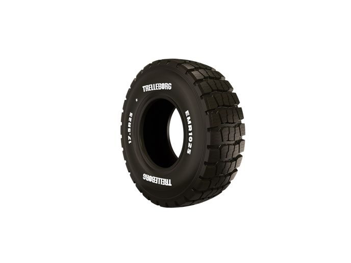 The EMR 1025 all-season tire will be available in four sizes: 14.00-24, 17.5R25, 20.5R25 and 23.5R25. -