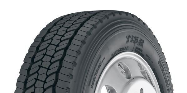 The Yokohama 115R commercial truck tire is now available in size 225/70R19.5 (14).