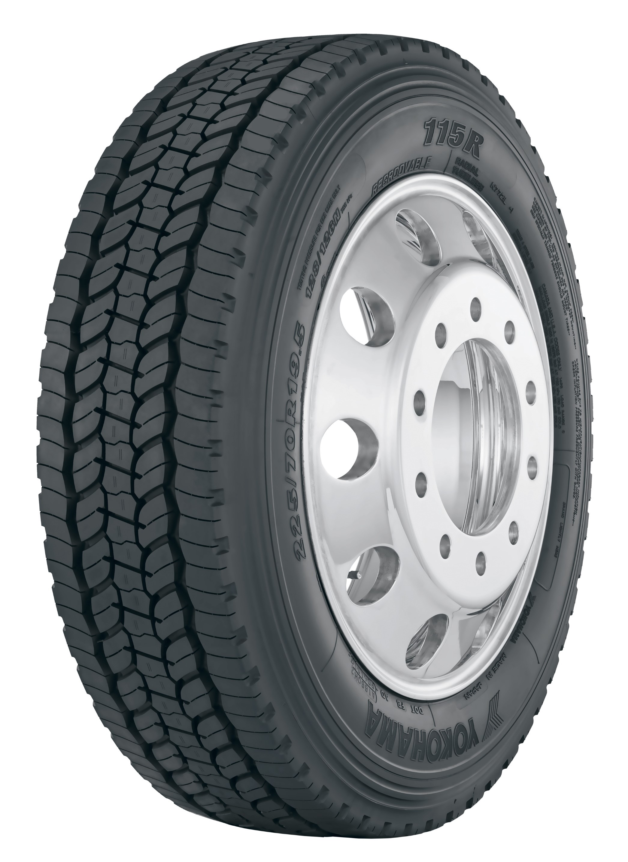 Yokohama Commercial Truck Tire Gets New Size