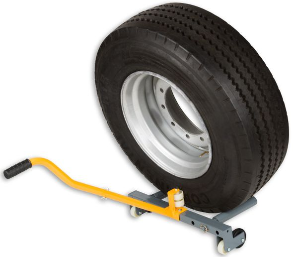 The Winntec Truck Wheel Dolly helps technicians safely install and uninstall truck tire and wheel assemblies. -