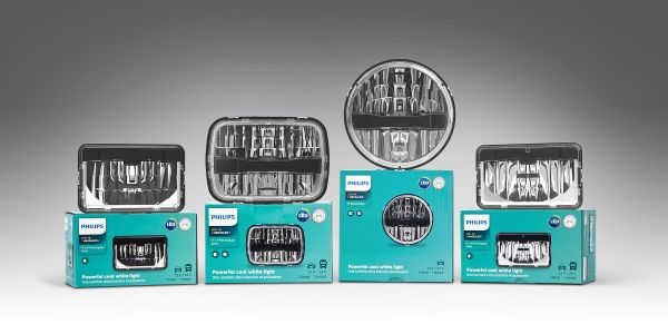 Philips LED integral beam are available for 7-inch round, 5-inch x 7-inch and 4-inch x 6-inch...