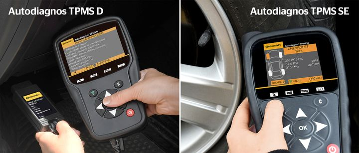 Continental has added two TPMS tools - the Autodiagnos TPMS D and the Autodiagnos TPMS SE. -