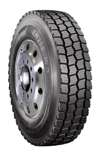 The tire is currently available in sizes 11R22.5 and 11R24.5, Load Range H. -